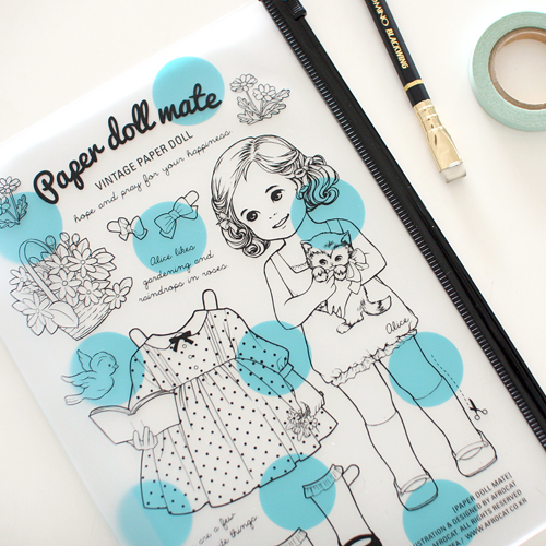 paper doll mateclear pouch L