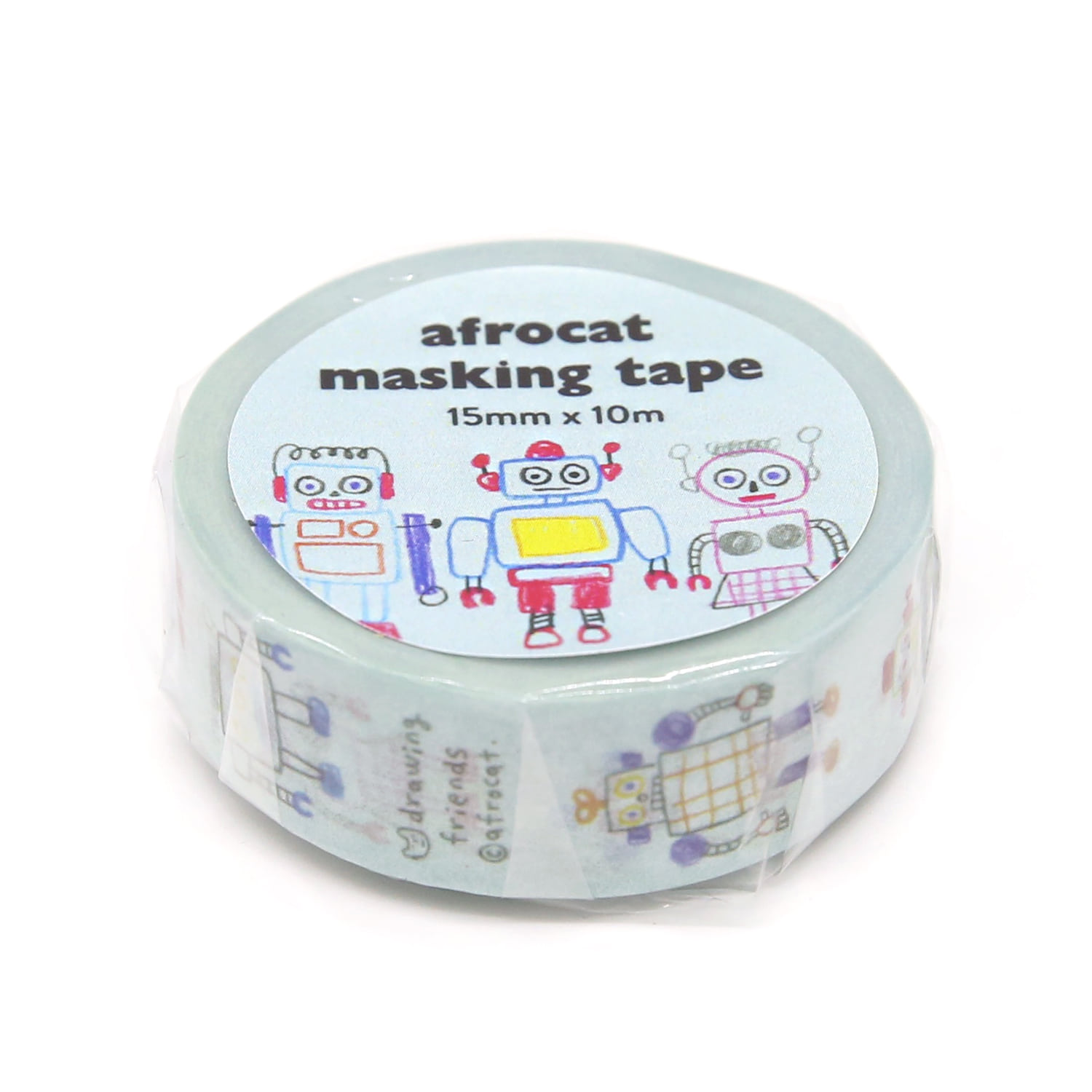 [afrocat masking tape] 10. Drawing friends_robot 15mm