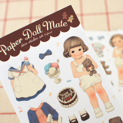 [sold out]  paper doll mate paper sticker 1 (종이)