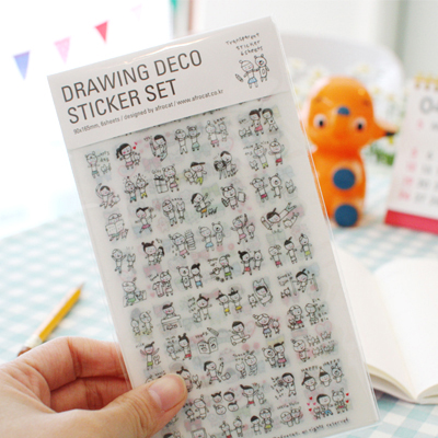 [sold out]  drawing deco sticke