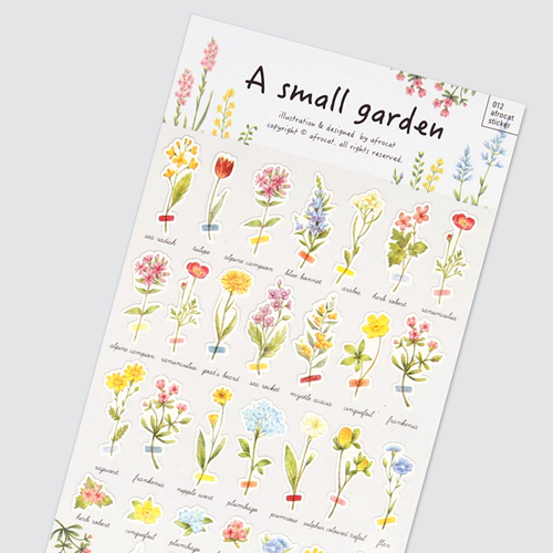 afrocat sticker 012 small garden sticker