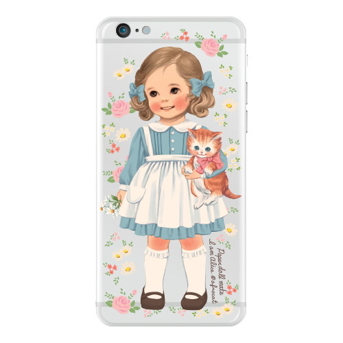 [20%] Clear jelly casePaper doll mate_ Alice/ flower