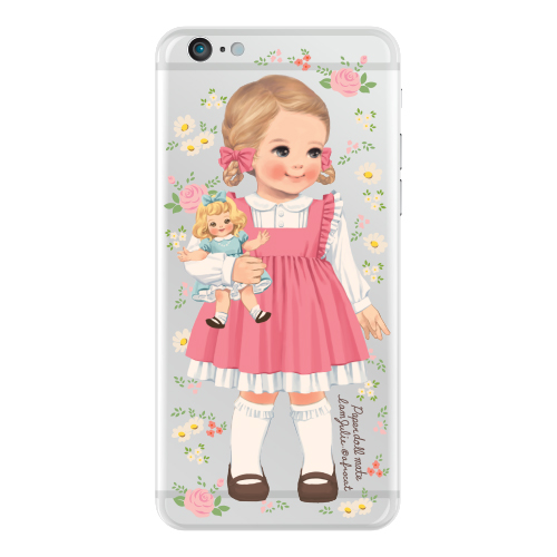 Clear jelly casePaper doll mate_Julie/ flower