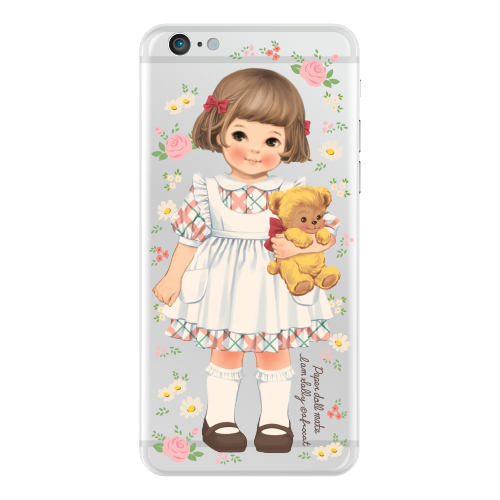 Clear jelly casePaper doll mate_ Sally/ flower
