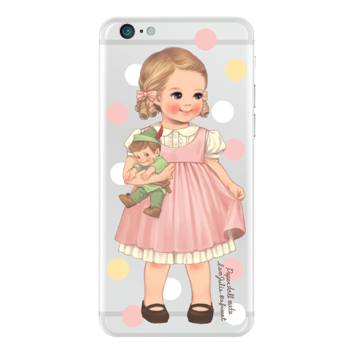 [20%] Clear jelly casePaper doll mate_ Julie/ dot