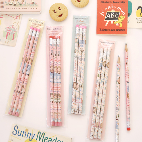 paper doll mate pencil set