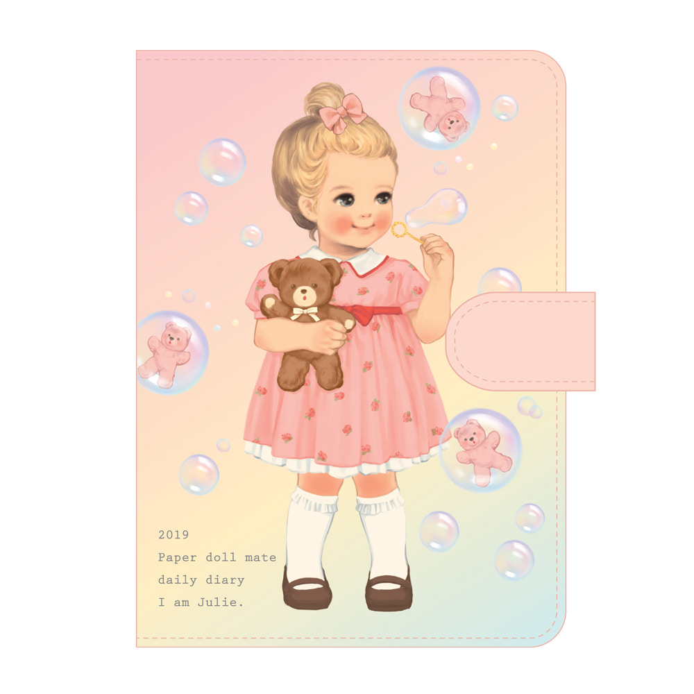 [Sold out] Paper doll mate daily diary 2019_ Julie
