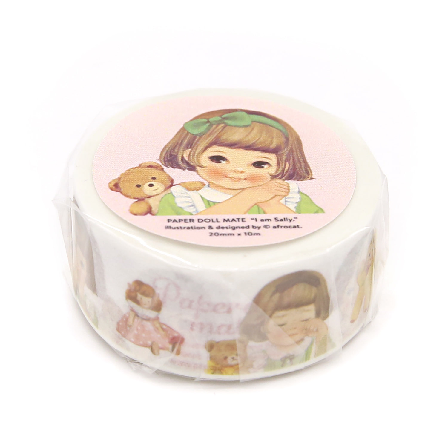 [afrocat masking tape] 6. Paper doll mate_ sally 20mm