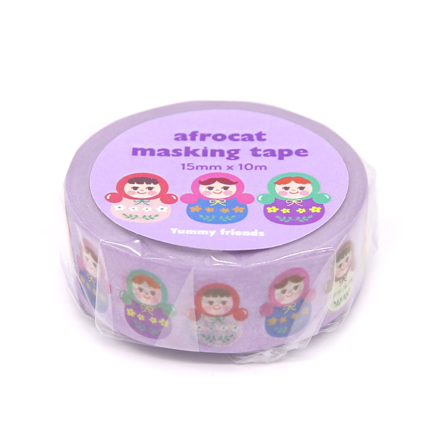 [afrocat masking tape] 13. Yammy friends _ matroyshka 15mm